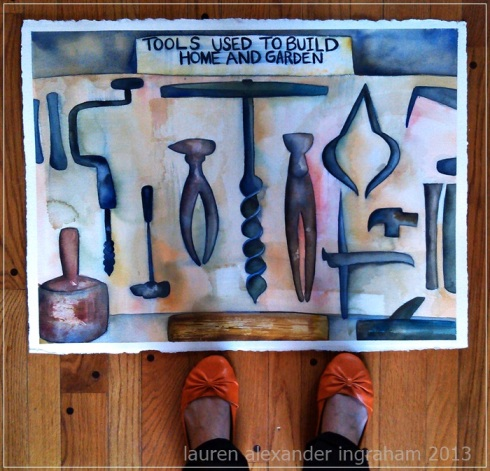 tools and feet